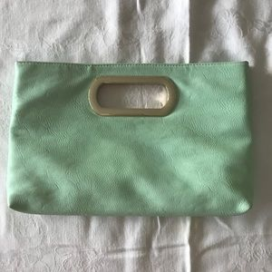 Brand: Charming Charlie Clutch mint color small